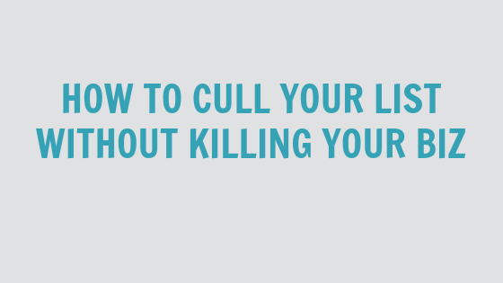 How To Cull Your List Without Killing Your Biz [VIDEO]