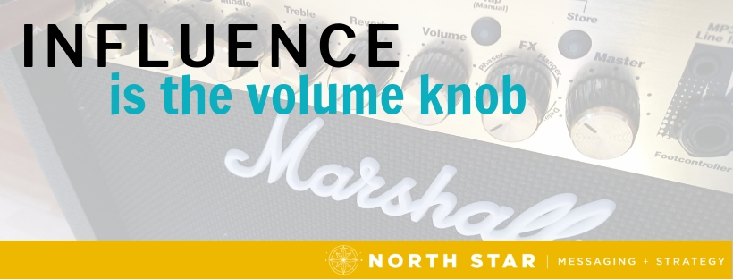 Influence is the volume knob