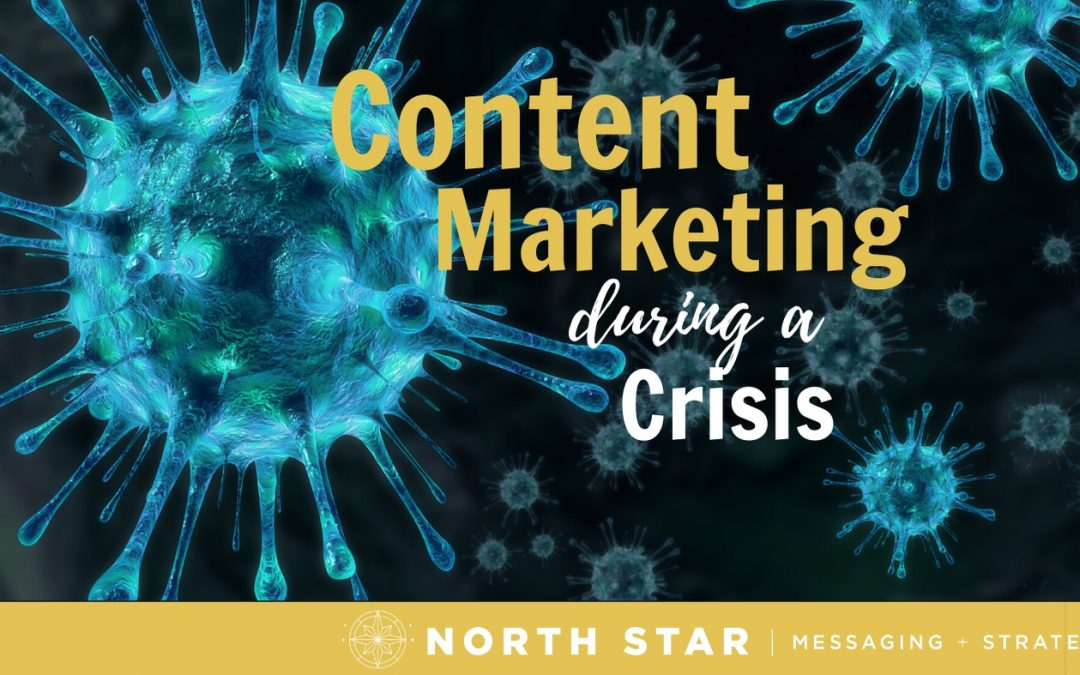 how to do content marketing in a crisis